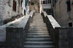 Eine allgemeine Ansicht einer Treppe Stockbilder