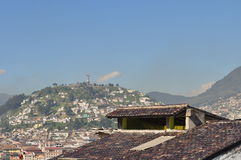 Eine allgemeine Ansicht von Quito im Stadtzentrum gelegen Stockfotografie