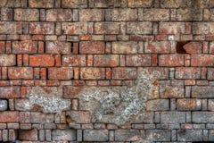 Eine alte Blockbacksteinmauer Lizenzfreie Stockfotografie