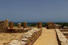 Eine alte Carthaginian Stadt in Kappe Bon, Tunesien lizenzfreie stockfotos