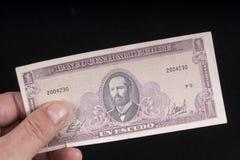 Eine alte chilenische Banknote Lizenzfreies Stockfoto