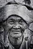 Eine alte Frau Stockfoto