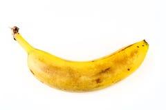 Eine alte gelbe Banane Lizenzfreie Stockbilder