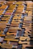 Alte Drucktype Stockfotografie