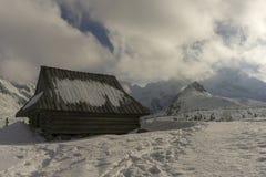 Eine alte Hütte im Gasienicowa-Tal Tatra Berge polen Stockbilder