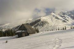 Eine alte Hütte im Gasienicowa-Tal Tatra Berge polen Lizenzfreie Stockfotos