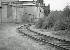 Eine alte Industrie wo der Zug Stockbild