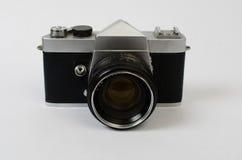 Eine alte Kamera geradeaus lizenzfreie stockbilder