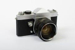 Eine alte Kamera schräg Lizenzfreie Stockfotos
