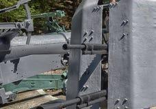 Eine alte Kanone im Museum Stockbild