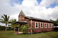 Eine alte Kirche in Hale'iwa Hawaii Stockfotos