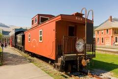Eine alte Kombüse am Bahnhof in skagway Lizenzfreies Stockfoto