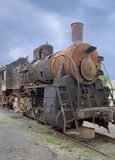 Eine alte Lokomotive Stockfotografie