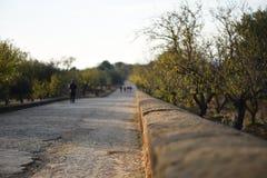 Eine alte römische Straße Stockbild