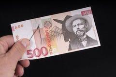 Eine alte slowenisch Banknote Lizenzfreie Stockbilder