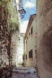 Eine alte Stadt in Süd-Frankreich Lizenzfreie Stockbilder