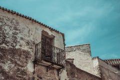 Eine alte Stadt in Sardinien Lizenzfreies Stockbild