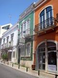 Eine alte Stadt von Faro Algarve portugal Geckige Herberge Stockfotos