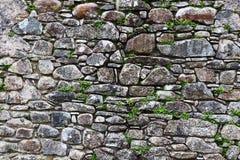 Eine alte Steinwand von den Mittelalter Lizenzfreie Stockfotos