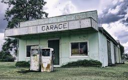 Eine alte Tankstelle in Queensland Australien Lizenzfreies Stockbild