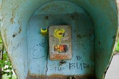 Eine alte Telefonzelle Lizenzfreie Stockbilder