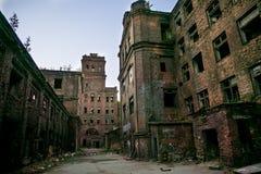 Eine alte verlassene Fabrik in St Petersburg, Russland stockfoto