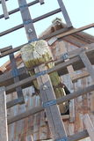 Eine alte Windmühle Stockfotos