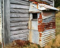 Eine alte Zinnbretterbude Lizenzfreie Stockfotos