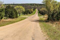 Eine andere Hügel-Land-Straße in der Farbe Lizenzfreies Stockbild