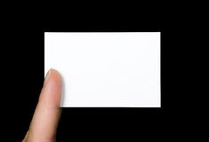 Eine andere leere Visitenkarte stockbilder