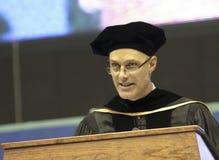 Eine Anfangs-Rede durch David Mangelsdorf an NAU Lizenzfreies Stockbild