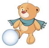 Eine angefüllte SpielzeugBärenjungskarikatur Lizenzfreie Stockfotos
