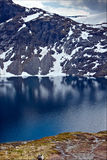 Eine angenehme Aussicht über Bergen das Dalsnibba in Norwegen Lizenzfreie Stockfotografie