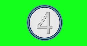Eine Animation von Kreisen mit Zahlen von zehn bis null herein ein grüner Farbenreinheitshintergrund lizenzfreie abbildung