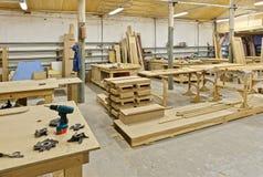 Eine Anlage für Herstellung der Möbel stockfotografie
