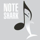 Eine Anmerkung des Weißen Hais Stockbild