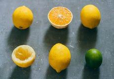 Eine Anordnung für Zitrusfrüchte Stockfoto