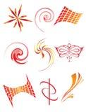 Eine Ansammlung Symbole für die Auslegung lizenzfreie abbildung