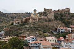 Eine Ansicht über alte Stadt und Festung von Tiflis Stockfotos