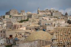 Eine Ansicht über alte Stadt von Erice, Sizilien Lizenzfreie Stockbilder