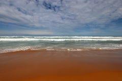 Eine Ansicht über das oceann, große Ozean-Straße in Victoria, Australien Stockfoto