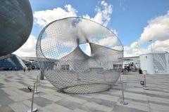 Eine Ansicht über den AUSSTELLUNGS-Bereich in Astana im Jahre 2017 stockfotografie