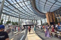 Eine Ansicht über den AUSSTELLUNGS-Bereich in Astana im Jahre 2017 lizenzfreie stockbilder