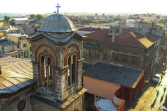 Eine Ansicht über eine Istanbul-Kirche stockfoto