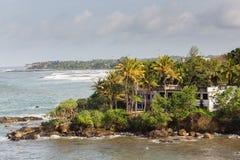 Eine Ansicht über Galle-Küstenlinie, Sri Lanka lizenzfreies stockbild