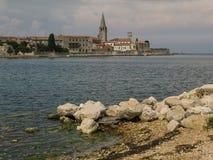 Eine Ansicht über Porec, Kroatien Stockbild