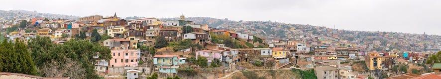 Eine Ansicht über Varlaraiso, Panorama Lizenzfreie Stockfotos