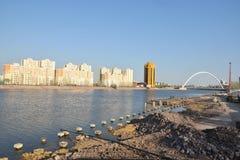 Eine Ansicht in Astana, Kasachstan lizenzfreies stockbild