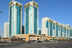 Eine Ansicht in Astana, Kasachstan lizenzfreie stockfotos