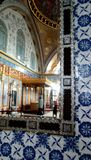 Eine Ansicht in das Spiegelinnere von Topkapi-Palast, Istanbul, die Türkei stockfoto